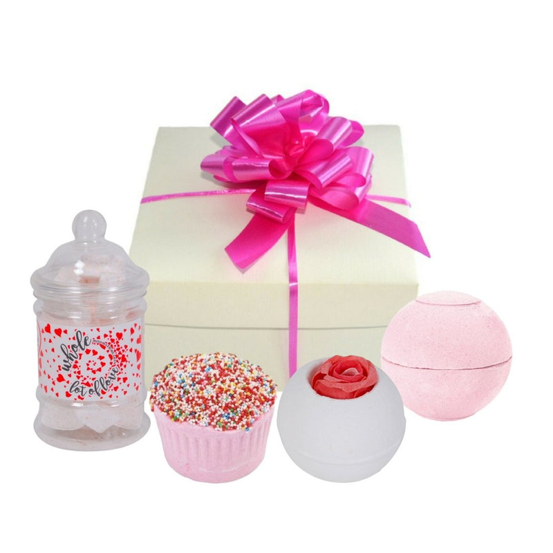 Strawberry Rose Bath Bomb Gift Set-Perfect Pamper Gifts