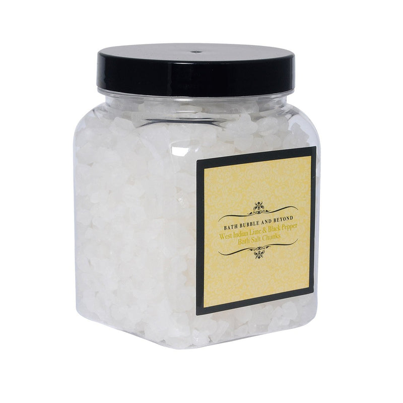 West Indian Lime & Black Pepper Luxury Bath Salt Chunks-Perfect Pamper Gifts