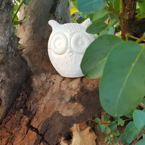 Large White Owl Candle