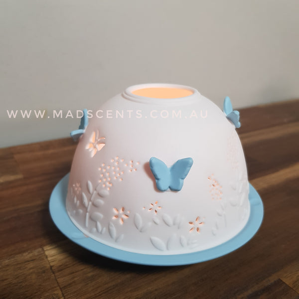 Baby Blue Butterfly Tealight Dome