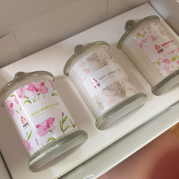 Personalised Signature Petite Trio Candle Gift Set
