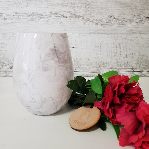 Grey Marble Stemless Candle