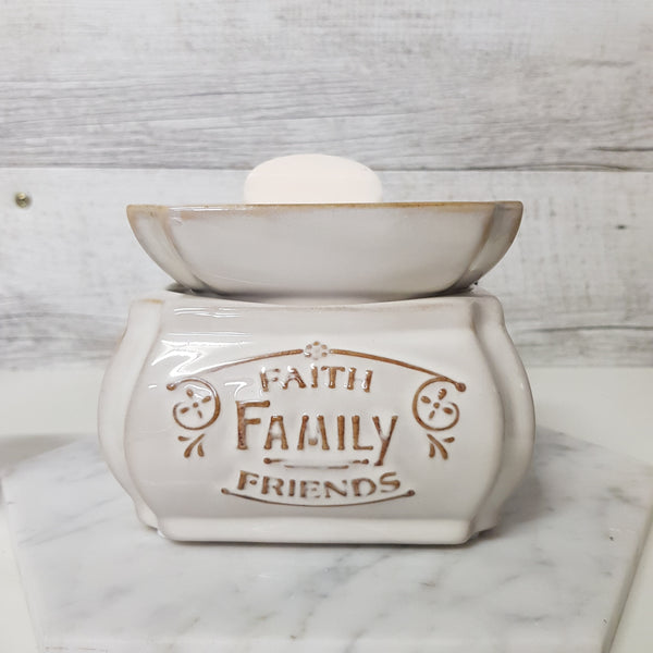 Faith Family Friends 2 in 1 Candle / Melt Wax Warmer