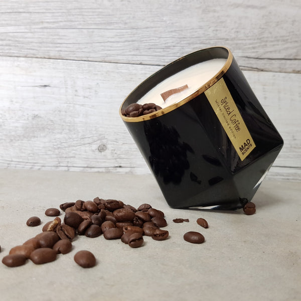 Spiced Coffee - Wood Wick Candle (Black)