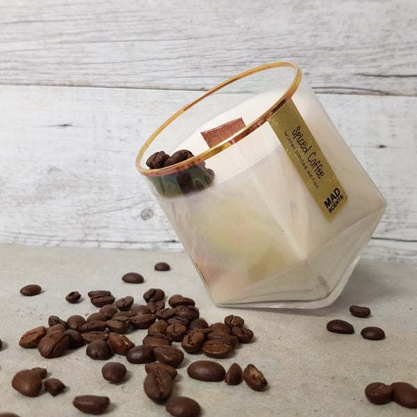 Spiced Coffee - Wood Wick Candle (Translucent Pearl)