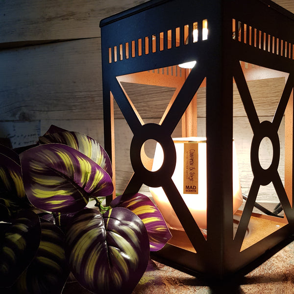 Mission Rustic Brown Candle Warmer Lantern