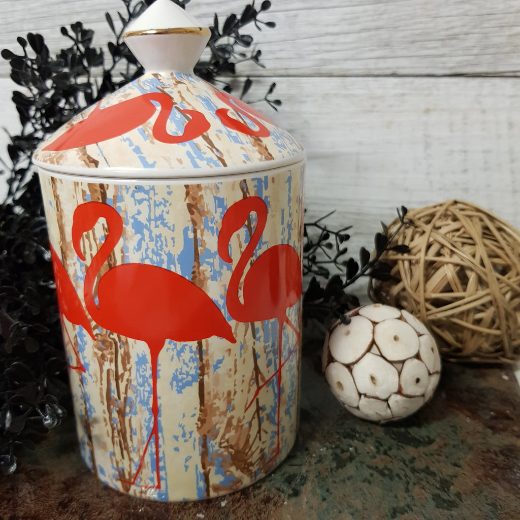 Pink Champagne & Exotic Fruits - Flamingo Canister Candle
