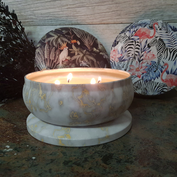 Australian Florals & Honey - Tropical Safari - Multi Wick Tin Candle