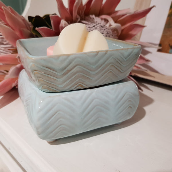 Chevron 2 in 1 Candle / Melt Fragrance Warmer