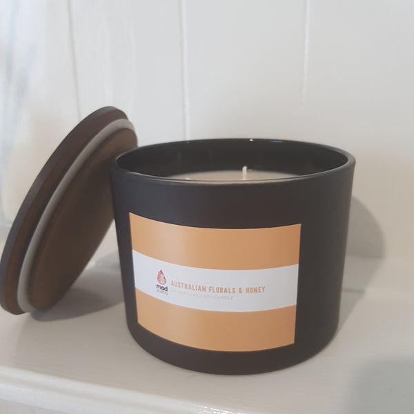 Australian Florals & Honey - Matte Black Triple Wick Candle