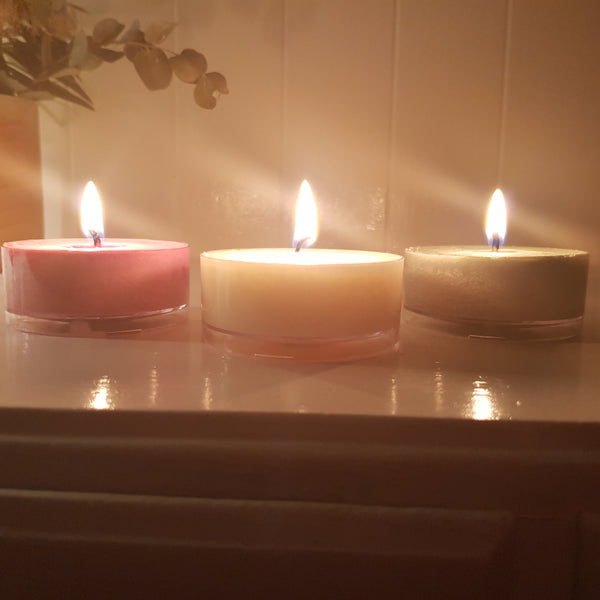 Festive Trio - Maxi Tealight Scented Candles