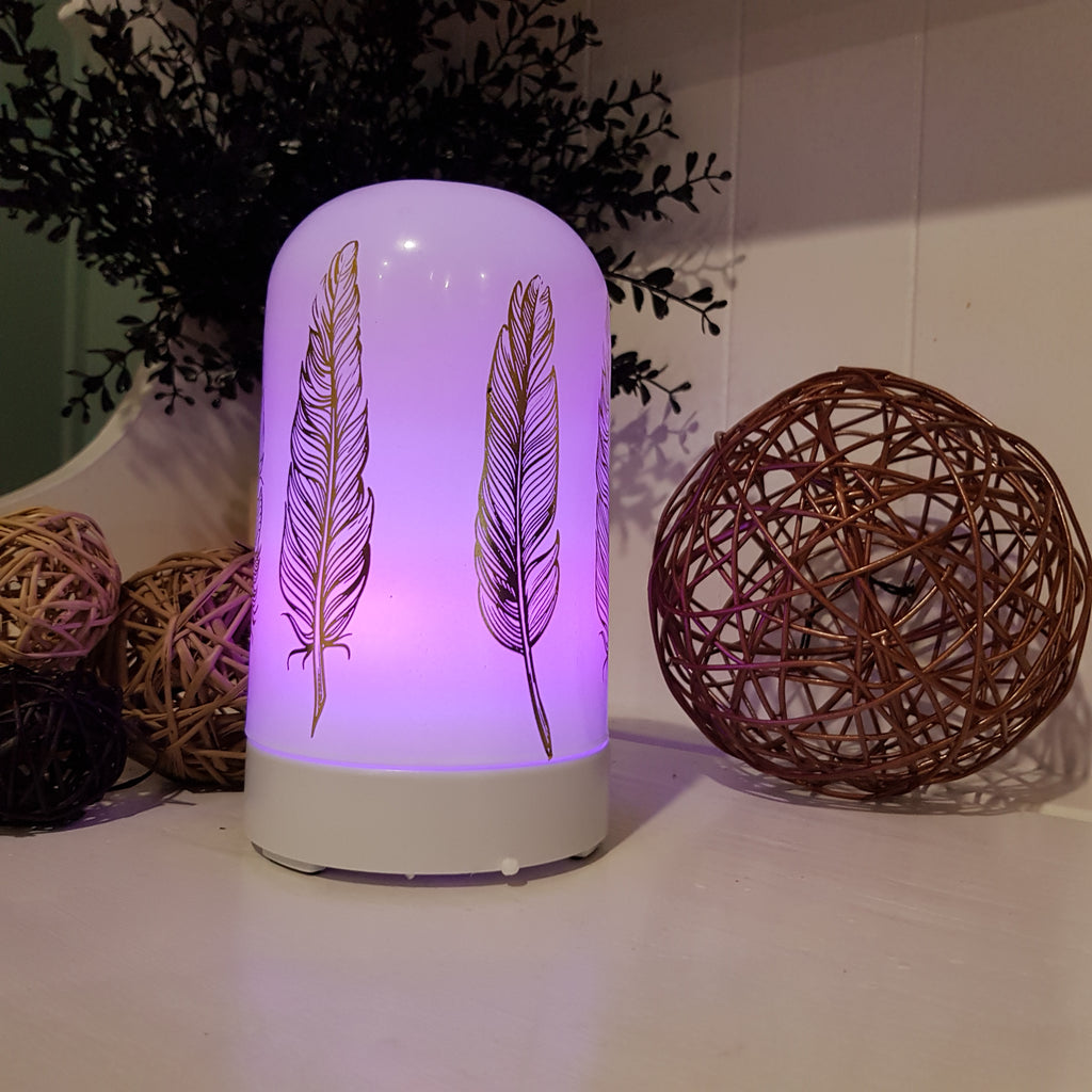 """Feathers"" - White Ultra Sonic Diffuser"