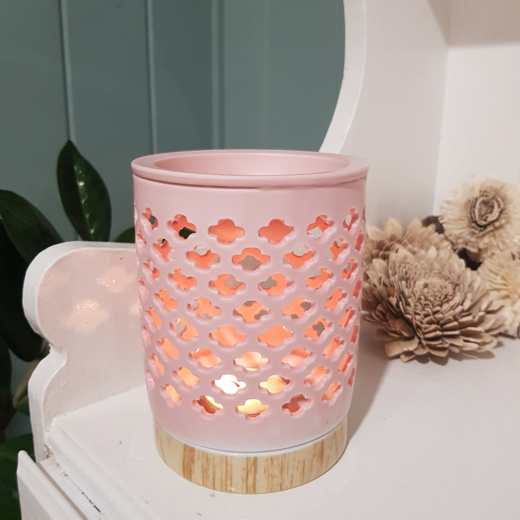 Blush Ceramic Tealight Warmer
