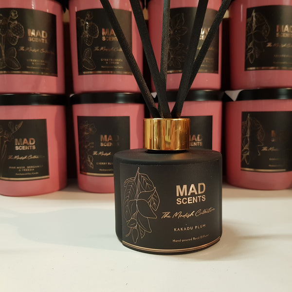 Pink Champagne & Exotic Fruits - Modish Matte Black Reed Diffuser (120ml)