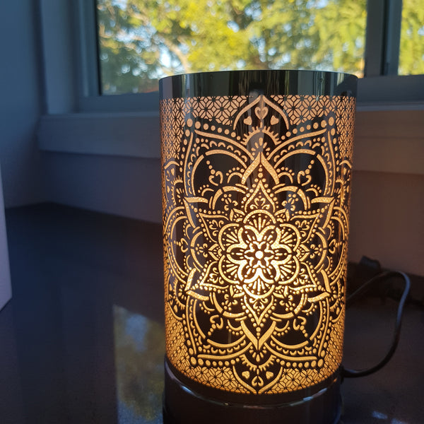 Mandala  - Silver Touch Lamp Electric Warmer