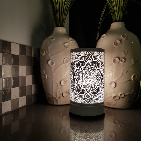 Mandala  - White Touch Lamp Electric Warmer