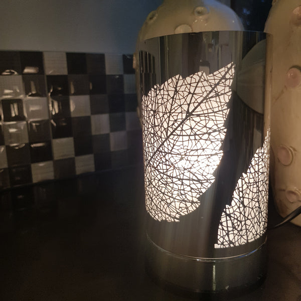 Leaf  - Silver Touch Lamp Electric Warmer