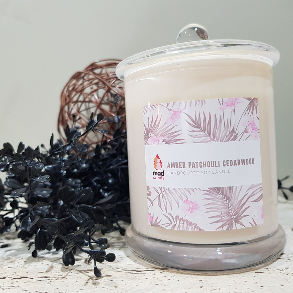 Amber Patchouli Cedarwood - Signature Candle (Large)