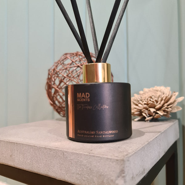 Australian Sandalwood - Timeless Matte Black Reed Diffuser (120ml)