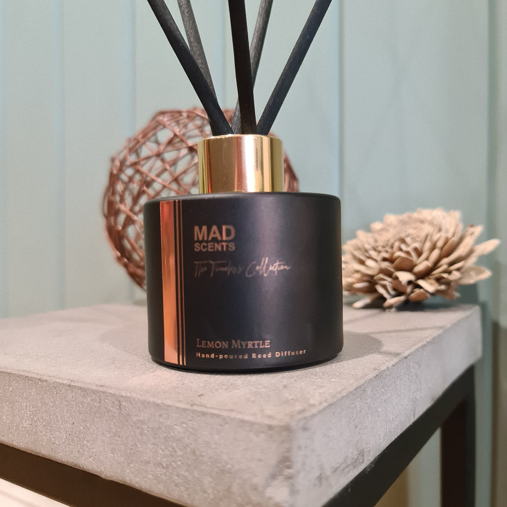 Lemon Myrtle - Timeless Matte Black Reed Diffuser (120ml)