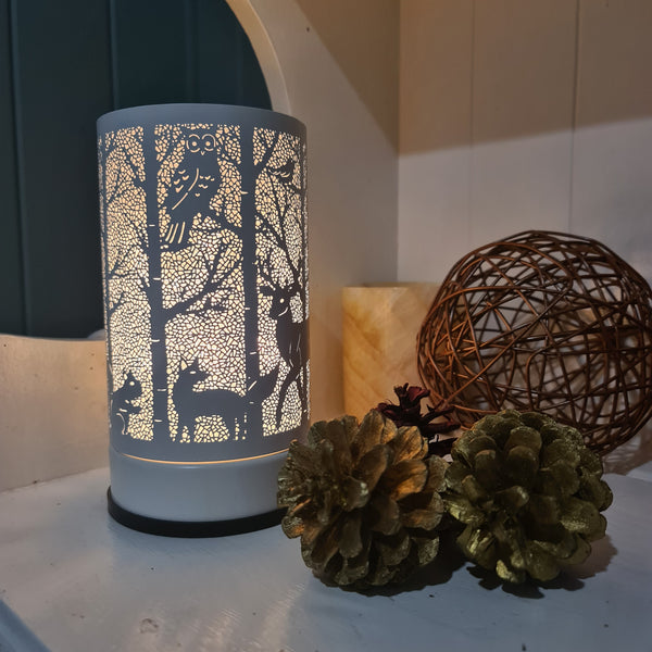 Woodlands - White Touch Lamp Electric Warmer