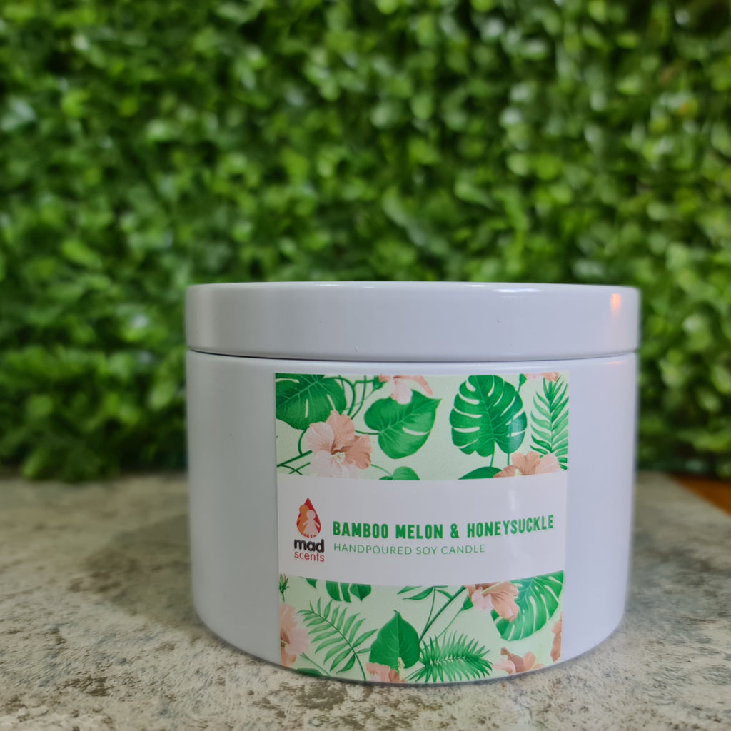 Bamboo Melon & Honeysuckle - Large Tin Candle