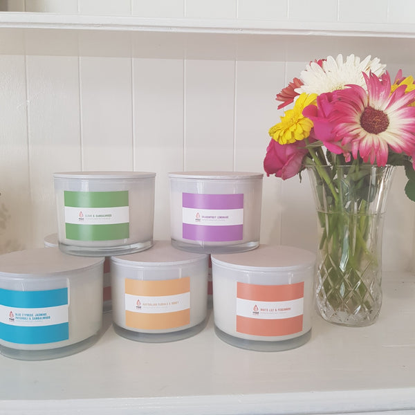 The Colour Range - White Triple Wick Candle