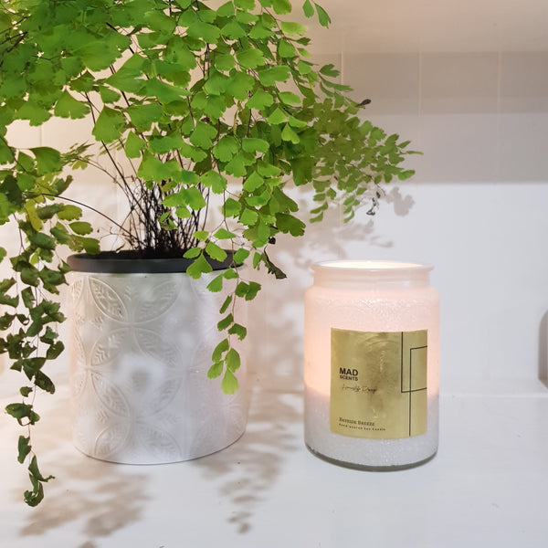 Candle - Homestyle Range (White Embossed) - Cotton Wick (MADE TO ORDER)
