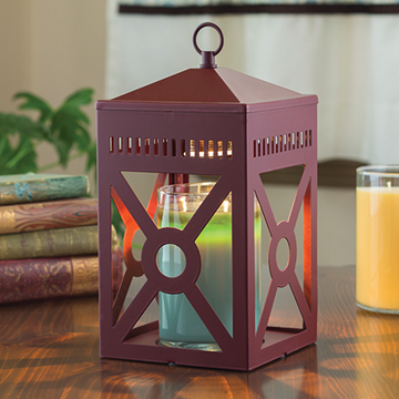 Mission Brick Candle Warmer Lantern