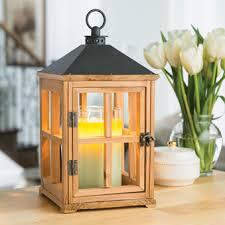 Wooden Candle Warmer Lantern - Natural Teak