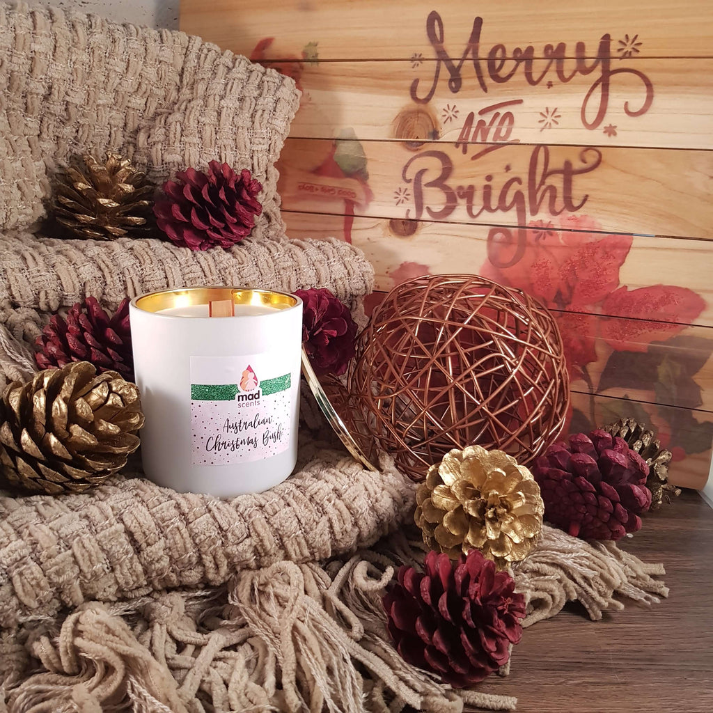 Australian Christmas Bush - Classique wooden wick candle