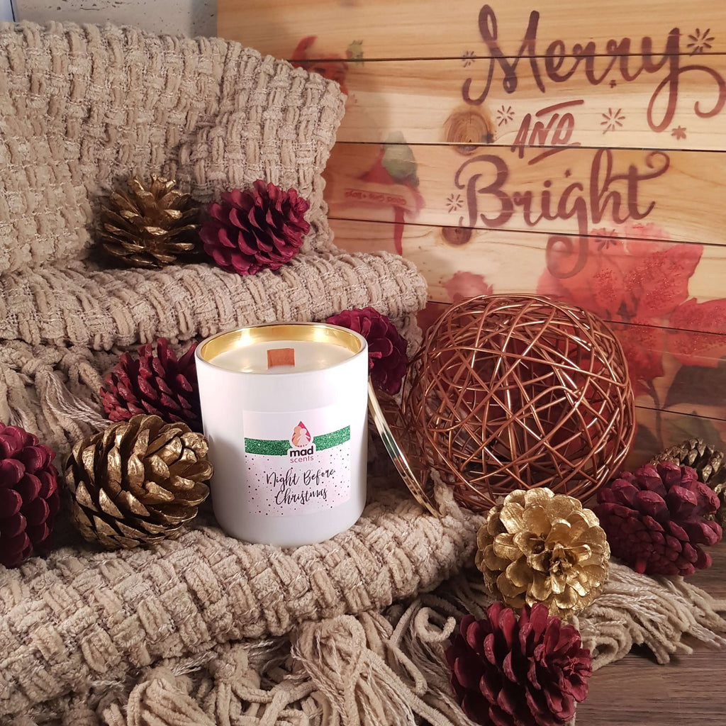 Night before Christmas - Classique wooden wick candle