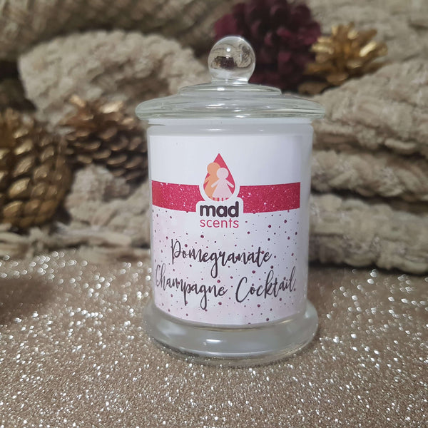 Pomegranate Champagne Cocktail - Petite Soy Candle