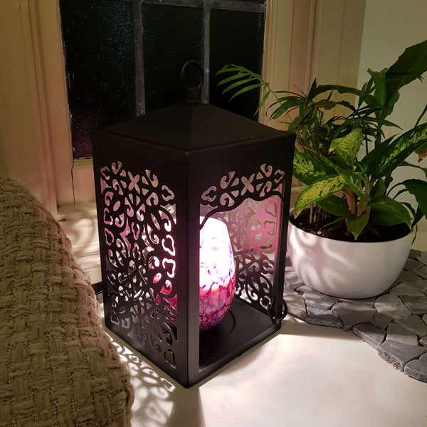 Black Scroll Warmer Lantern
