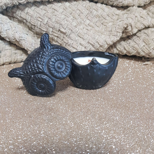 Baby Powder - Petite Black Owl Candle