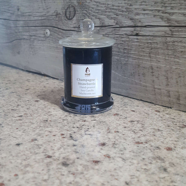 Sheer Lily White Rose -Black Soy candle