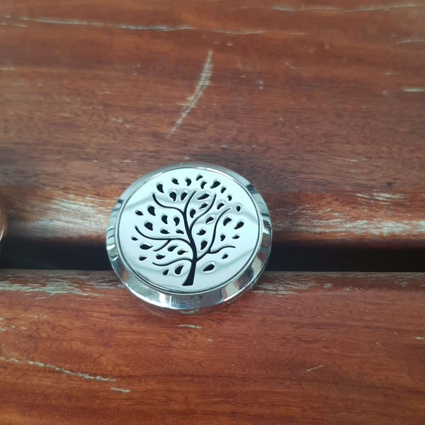 Tree of Life - Silver car vent diffuser + fragrance oil