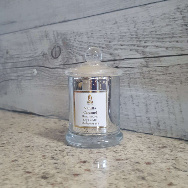 Vanilla Caramel - Silver Glimmer Soy candle