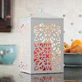 White Scroll Candle Warmer Lantern