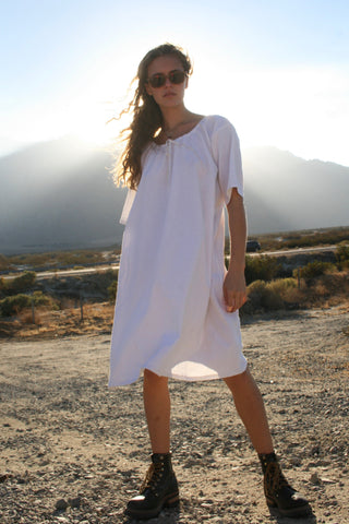 LINEN NIGHT DRESS