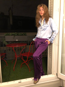 PURPLE SILK PANT