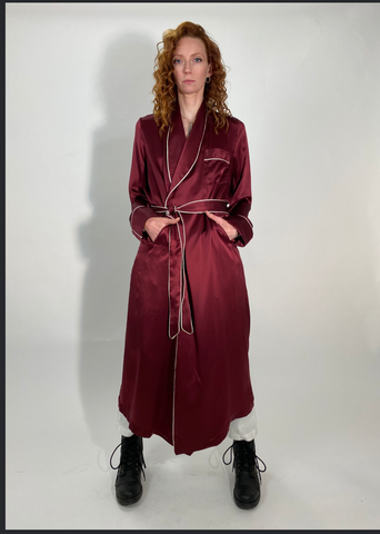 RUST SILK ROBE