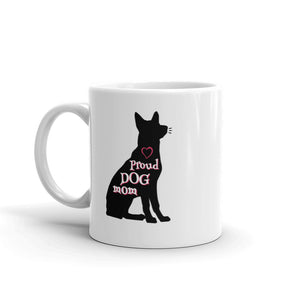 Proud Dog Mom - White Glossy Mug - Dishwasher Safe