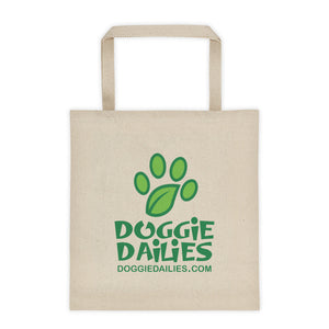 Doggie Dailies Logo - Canvas Tote bag