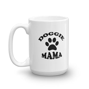 Doggie Mama White Glossy Mug - Dishwasher Safe