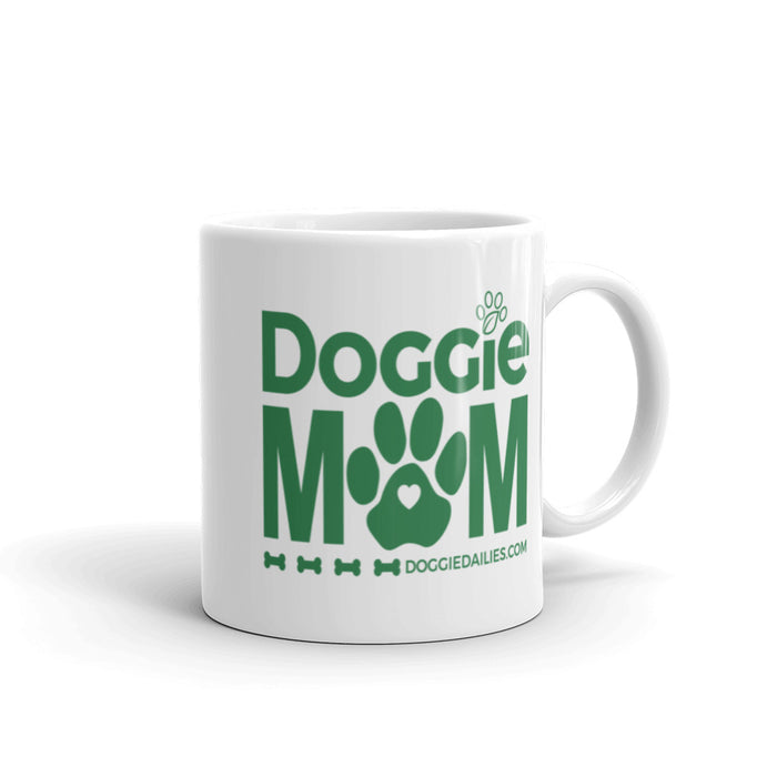 NEW Doggie Mom White Glossy Mug | Dishwasher Safe | Made in the USA