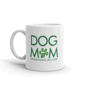 Doggie Dailies Dog Mom | White Glossy Mug | Dishwasher Safe | Made in the USA