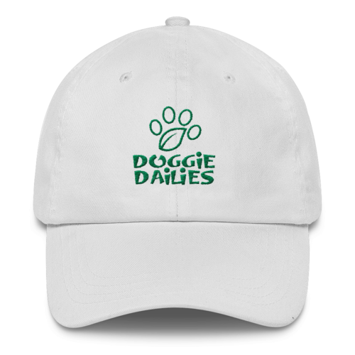 Doggie Dailies Classic Cotton Hat | White