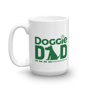 Doggie Dad White Glossy Mug | Dishwasher Safe | Made in the USA