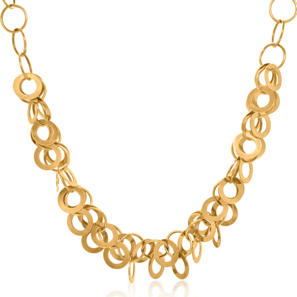 Inter-connecting Circles Gold Chain Necklace - Lueur Jewelry